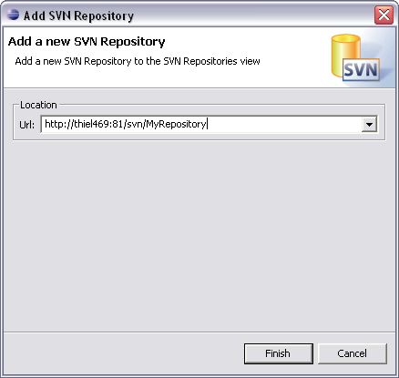 how to create repository in svn