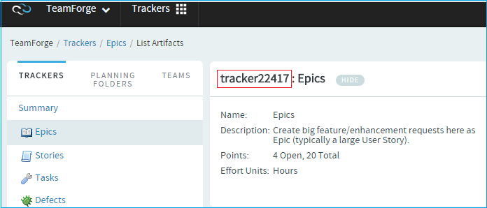 Create a tracker artifact by email